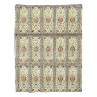 Oriental rug in light colours duvet cover