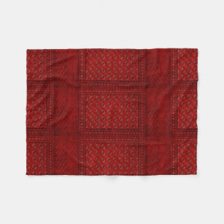 Oriental rug in reds fleece blanket