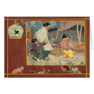 Oriental Scrapbook Greeting Cards