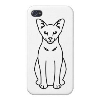 Oriental Self Cat Cartoon iPhone 4/4S Cover