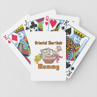 Oriental Shorthair Cat Mom Bicycle Playing Cards