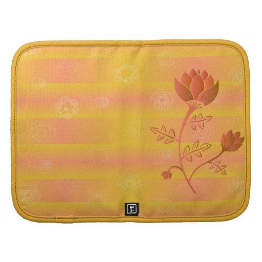 Oriental style flower in Warm orange tones Planner