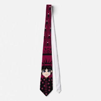 Oriental Style Goth Girl Neck Tie