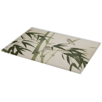 Oriental style painting, bamboo branches cutting board