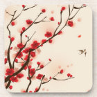 Oriental style painting, plum blossom in spring 2 coaster