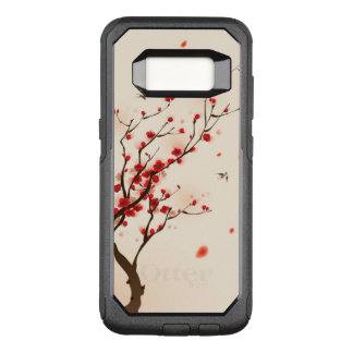 Oriental style painting, plum blossom in spring 2 OtterBox commuter samsung galaxy s8 case