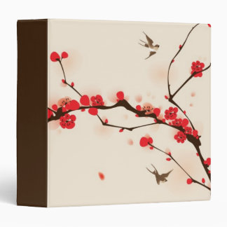 Oriental style painting, plum blossom in spring 3 binder