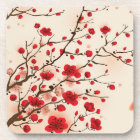 Oriental style painting, plum blossom in spring coaster