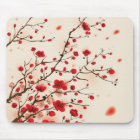 Oriental style painting, plum blossom in spring mouse pad