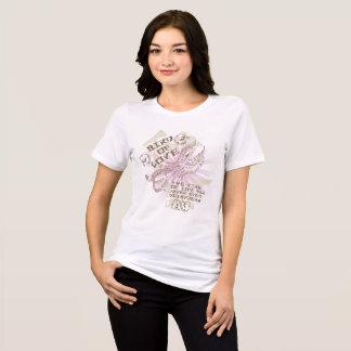 Oriental Style Pink Bird Of Love Design T-Shirt