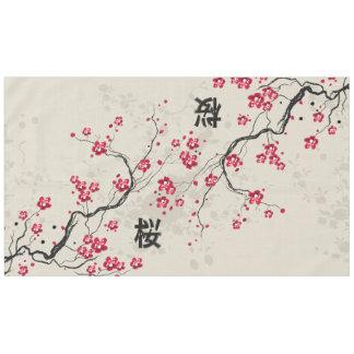 Oriental Style Sakura Cherry Blossom Art Tablecloth