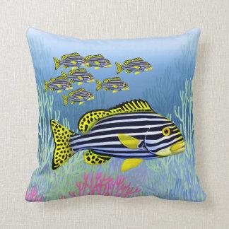 Oriental Sweetlips Reef Fish Pillow