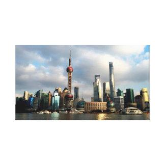 Oriental Tower Skyline Canvas Print