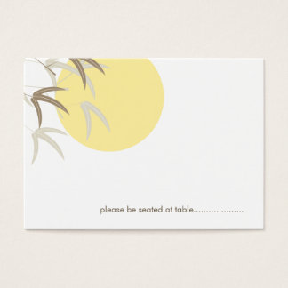 Oriental Yellow Sunrise Bamboo Guest Place Card
