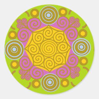 Orientales sample round sticker