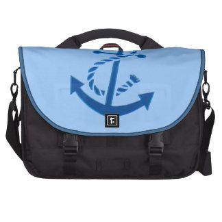 Orienté marin nautique de l'ancre du bateau bleu sac ordinateurs portables