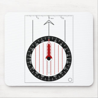 Orienteering Compass Mouse Pad