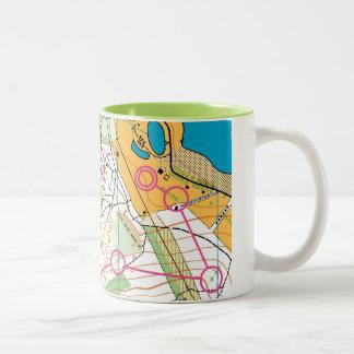 Orienteering map - mug