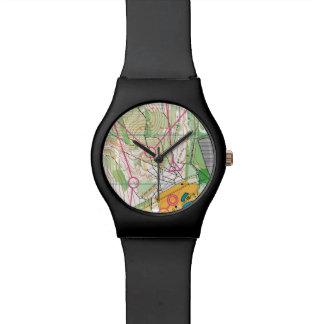 Orienteering watch - map