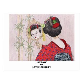 Orig. Art--Geisha Girl Post Card