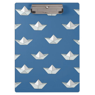 Origami Boats On The Water Pattern Clipboard