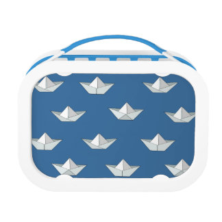 Origami Boats On The Water Pattern Lunch Box