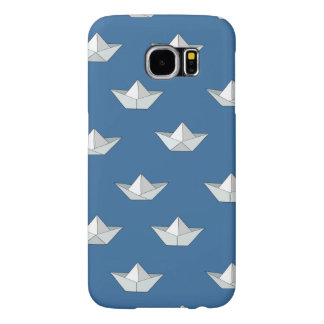 Origami Boats On The Water Pattern Samsung Galaxy S6 Cases