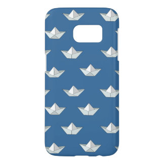 Origami Boats On The Water Pattern Samsung Galaxy S7 Case