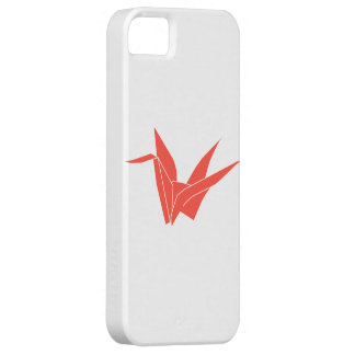 ORIGAMI CRANE in RED iPhone Case