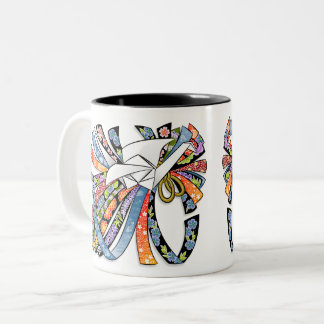 Origami Crane Japanese Paper Good Luck Noshi 折り紙 Two-Tone Coffee Mug
