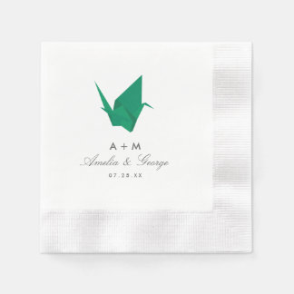 Origami Cranes Wedding Disposable Napkins