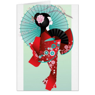 Origami Doll Greeting Card