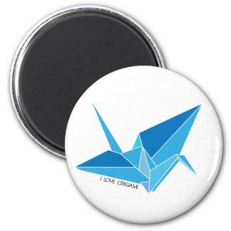 Origami Dove 2 Inch Round Magnet