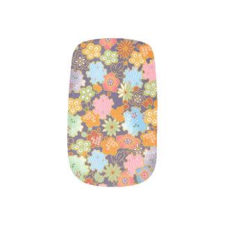 Origami flowers minx nail art