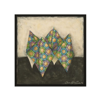 Origami Fortune Teller on Geometric Paper Wood Canvases