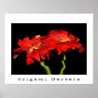 Origami Gerbera Poster