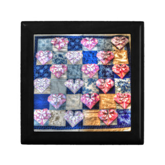 ORIGAMI HEARTS & PATCHWORK QUILT GIFT BOX
