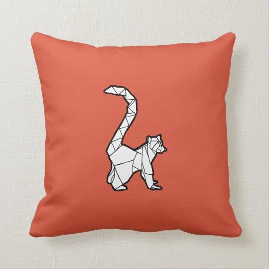 Origami Lemur Pillow