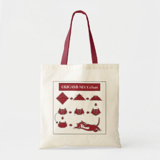 Origami Neco-chan Tote (Red Cat)