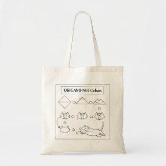 Origami Neco-chan Tote (White Cat)