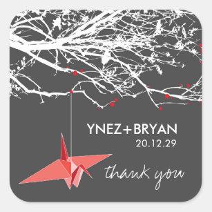 Paper Crane Stickers | Zazzle CA