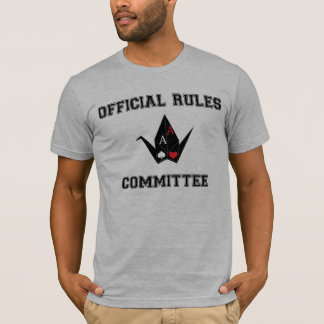 Origami Poker Rules Committee Tshirt