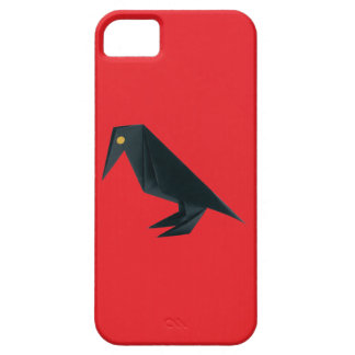 Origami Raven on Red iPhone 5 Cover