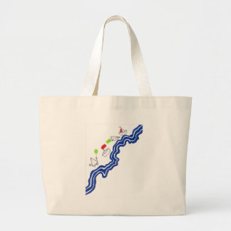 Origami River Large Tote Bag