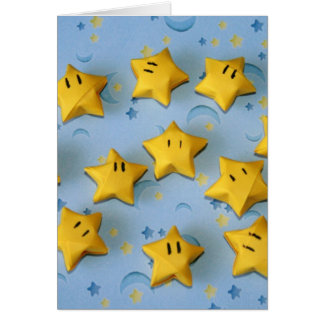 Origami Star Guys Card