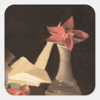 Origami Still Life Square Sticker