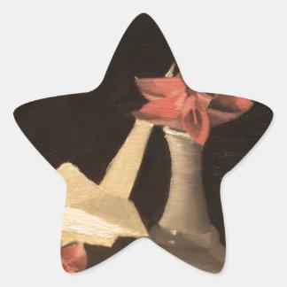 Origami Still Life Star Sticker