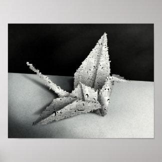 Origami Swan - 11x14 Digital Art Poster Print