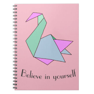 Origami Swan Notebooks