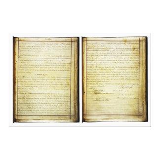 ORIGINAL 14th Amendment U.S. Constitution Canvas Print